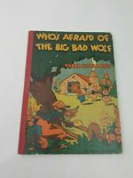 Vintage 1933 Disney Who's Afraid of the Big Bad Wolf, Three Little Pigs Book