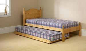NEW Orlando Single Honey SOLID PINE Bed Plus Trundle FREE LOCAL DELIVERY