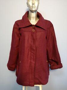 Ladies Size 18-20 Purple Button Up ANNE DE LANCAY Coat Jacket