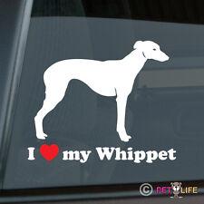 I Love My Whippet Sticker Die Cut Vinyl - english