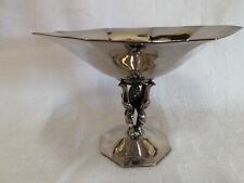 "Just Andersen Denmark 1929 silver plate Art Deco tazza compote 6"" STYLISH"