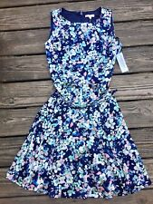 New York & Company Eva Mendes Lightweight Sleeveless Floral Dress, Size 8, NWT