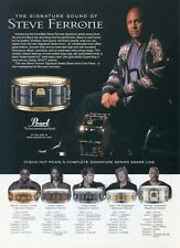 1999 Print Ad of Pearl Steve Ferrone Signature Series Snare Drum