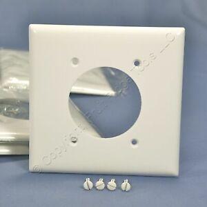 "P&S White Standard 2.156"" Receptacle Outlet Wallplate Dryer Range Welder SP703-W"