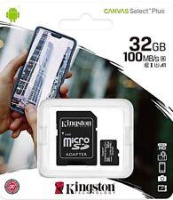 32GB Micro-SD Speicherkarte KINGSTON MicroSD Karte Class 10 100MB/s