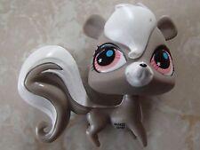 Littlest Pet Shop RARE Squirrel #2694 Grey Pink Red Eyes Pepper Clark Skunk LPS
