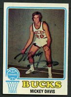Mickey Davis #107 signed autograph auto 1973-74 Topps Basketball Trading Card