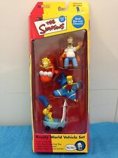 Simpsons Krusty World Vehicle Set with Homer, Bart, Lisa, Marge and Maggie