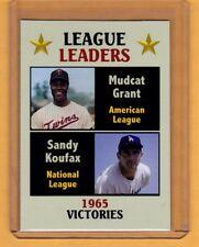 Victory Leaders 1965 Sandy Koufax & Mudcat Grant, Fan Club serial # /300