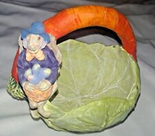 Dept. 56 Easter Bunny Rabbit Cabbage Carrot Basket Figurine