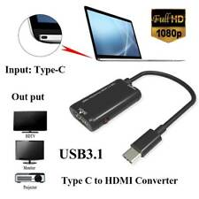 USB-C TypeC to HDMI Adapter USB 3.1 Cable For MHL Android Phone Tablet Black AU