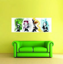 Xbox one ps3 ps4 PC GAME CASTLE CRASHERS PANORAMIC GIANT POSTER PRINT