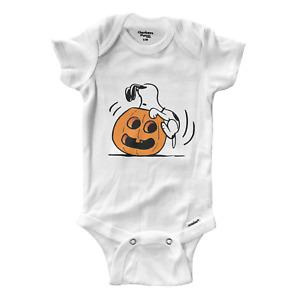 Infant Gerber Baby Onesies Bodysuit Gift Halloween Snoopy Pumpkin Jack O Lantern