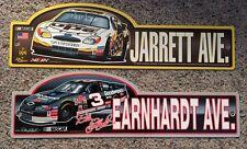 "Dale Earnhardt 3 & Dale Jarrett 88 ""EARNHARDT AVE"" & "" JARRET AVE"" Nascar Signs"