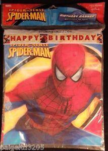 Hallmark Marvel Spider Sense Spider-Man Happy Birthday 8 Ft Long Banner
