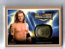 WWE Edge 2016 Topps RTWM BRONZE Commemorative HOF Ring Card SN 37 of 50