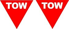 RACING STICKERS TOW POINT  100mm TRIANGLES X 2 CAR DECAL STICKER