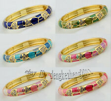 Wholesale 10pcs Classic Handmade Cloisonne Inlaid Crystal Lovely Bracelet Cuff