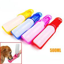 500ml Haustier Trinkflasche Kunststoff Wasserspender Hund Spender Näpfe Reise
