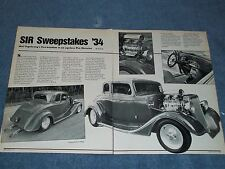 "1934 Chevy 5-Window Coupe Pro Street Vintage Article ""SIR Sweepstakes '34"""