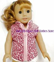 Pink Leopard Reversible Vest 18 in Doll Clothes Fits American Girl Dolls