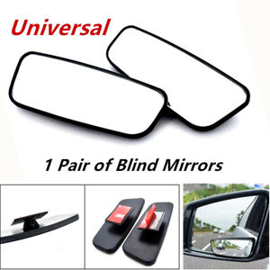 1Pair Blind Mirrors Side Auxiliary Spot Wide View Small Rearview Car Truck ABS