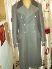 Vintage Gray & Dark Gray Wool Military Coat Size Medium 40 Excellent