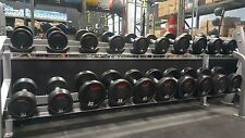 GP 5-50 Urethane Dumbbells with Solid Steel Center