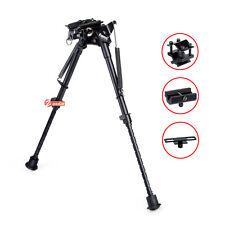 "Zeadio 9""-13"" Swivel Pivot Adjustable Spring Rifle Bipod with 3 Adapters"