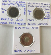 Model Coins Victoria Penny Half Sovereign 1840 Prince of Wales token FREE POST