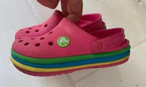 Crocs Girls Shoes Sandals Pink rubber summer Sz 9 Toddler ~ NiCE ~