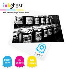 A4 High Gloss Self Adhesive Sticker Paper 120/80gsm / 20 sheets / Inkjet Printer