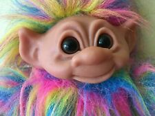"11"" Rainbow Pride Soft Plush Body Dam Troll Doll Toy All Over Body Hair, Denmark"