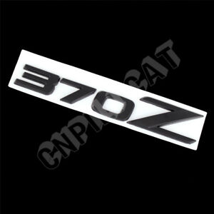 Black 3D 370Z Alloy Car Body Rear Emblem Stickers for NISSAN 370Z Fairlady Z Z34