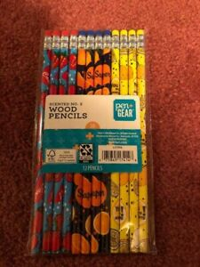 12 SCENTED PENCILS NO 2 STRAWBERRY, LEMON,ORNAGE, - NEW.