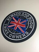 "Rewaco And Boom Trike 4"" Embroidered Patch Badge Triker Biker Merrow Edged 🇬🇧"