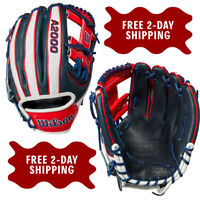 "Wilson A2000 Cuba Country Pride 1786 Model 11.5"" Infield Baseball Glove"
