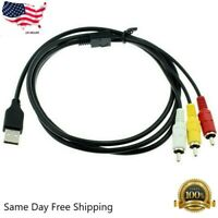 3 RCA to USB Aux Audio Video Adapter AV Converter Cable Cord Link RBB US Stock
