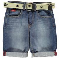Lee Cooper Webbed Belt Shorts Junior Boys Uk Size 13 Years *REF86