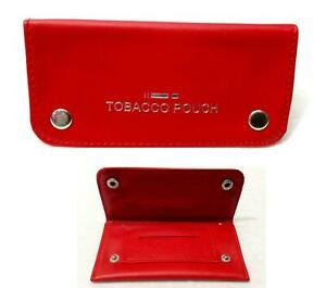 Soft black leather cigarette TOBACCO POUCH case organizer rolling paper pocket