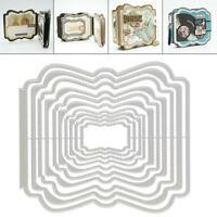 DIY Background Plates Metal Cutting Dies Stencils Scrapbooking Card Album Decor
