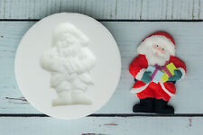 Father Christmas Santa with gifts Food safe Silicone Sugar craft/fimo Mould M069