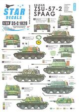 Star Decals 1/35 BALKAN ZSU-57-2 SPAAG Croatia, Slovenia, Bosnian-Serb Versions