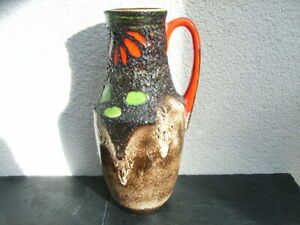 Fat Lava Scheurich Vase 407-35, 70er Jahre, Keramik, SEHR SCHÖN !!