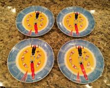 4 Georges Briard Circus 7 3/4� Salad / Dessert Plates Mid Century Modern
