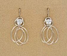 Earring set 4 piece Silver Jackets CZ  Posts  Dangles and Convertiblezs