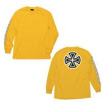 Independent Trucks Bar & Iron Cross Skateboard Long Sleeve T-Shirt Gold M - XXL