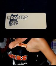 Hooters Girl Uniform Blank Gold Name Tag Halloween Costume Pin Badge Accessory