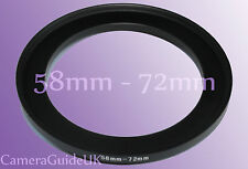 58mm A 72mm 58mm-72mm Stepping intensificar filtro anillo adaptador