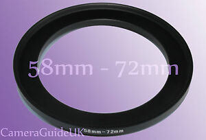58mm to 72mm Male-Female Stepping Step Up Filter Ring Adapter 58mm-72mm